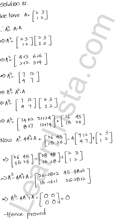 RD Sharma Solutions Class 12 Algebra of Matrices Chapter 5 Ex 5.3 31