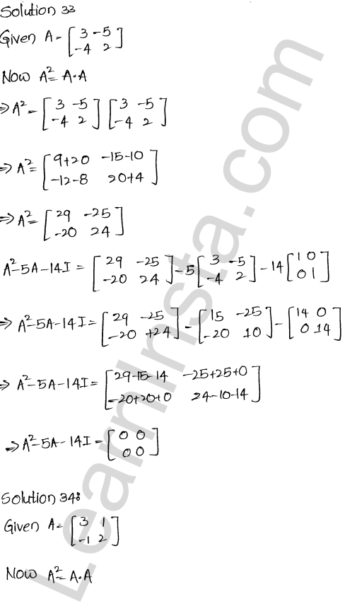 RD Sharma Solutions Class 12 Algebra of Matrices Chapter 5 Ex 5.3 33