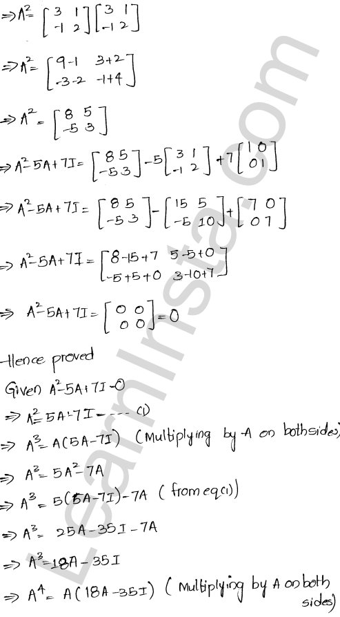 RD Sharma Solutions Class 12 Algebra of Matrices Chapter 5 Ex 5.3 34