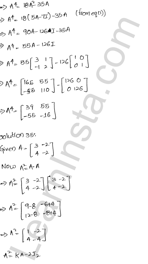 RD Sharma Solutions Class 12 Algebra of Matrices Chapter 5 Ex 5.3 35