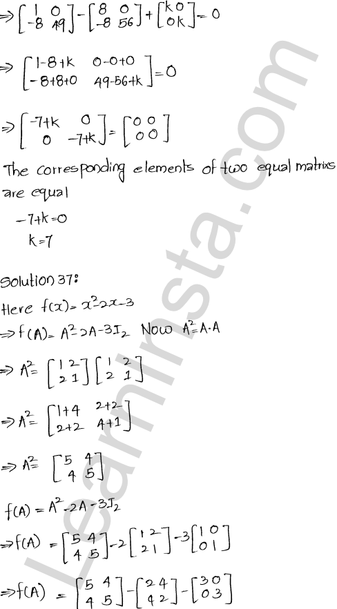 RD Sharma Class 12 Maths Solutions Chapter 5 Algebra of Matrices Ex 5.3 37