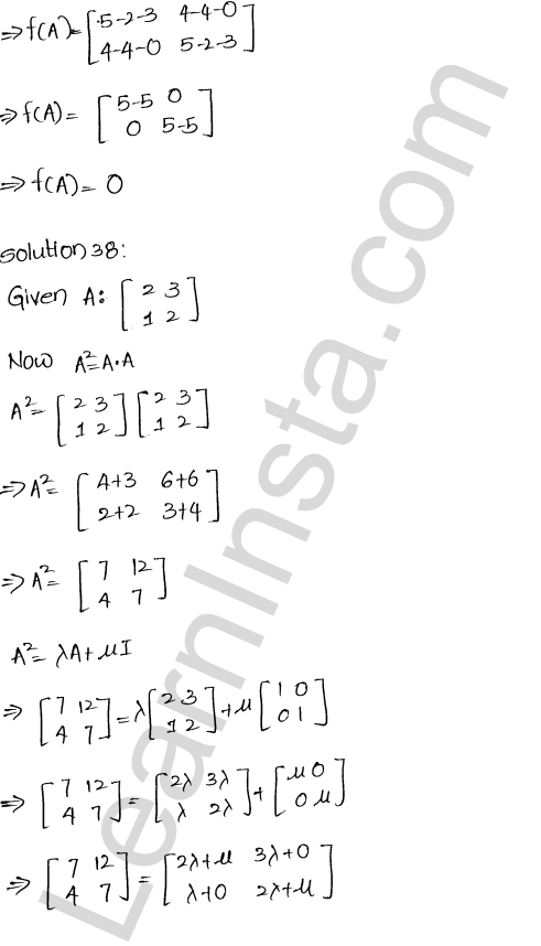 RD Sharma Class 12 Maths Solutions Chapter 5 Algebra of Matrices Ex 5.3 38