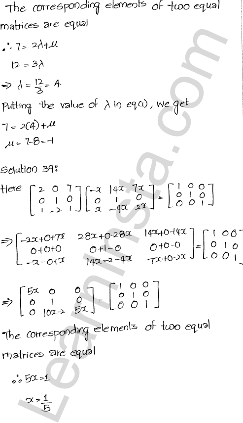RD Sharma Class 12 Maths Solutions Chapter 5 Algebra of Matrices Ex 5.3 39