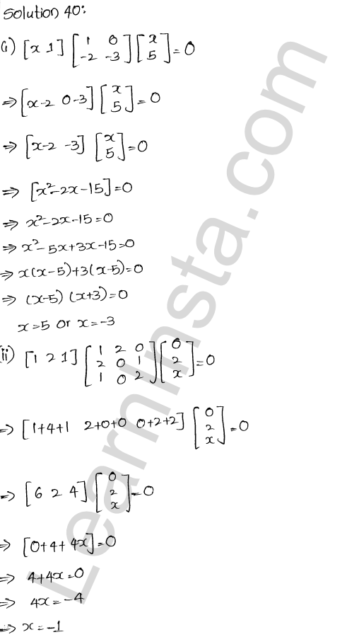 RD Sharma Class 12 Maths Solutions Chapter 5 Algebra of Matrices Ex 5.3 40