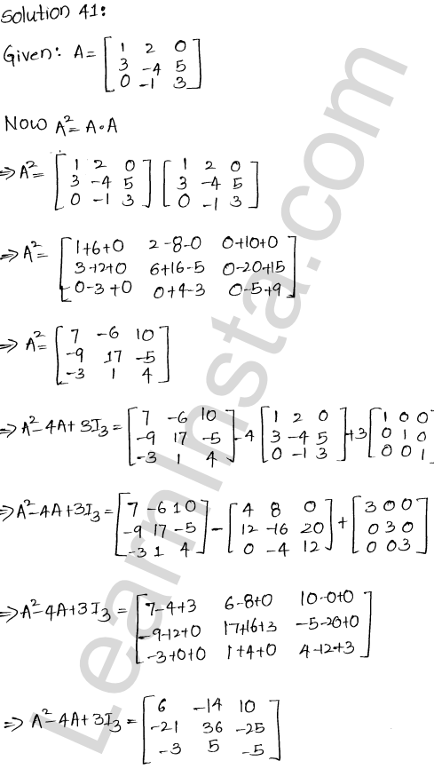 RD Sharma Class 12 Maths Solutions Chapter 5 Algebra of Matrices Ex 5.3 42