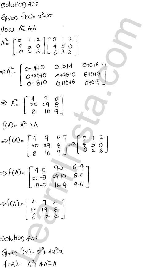 RD Sharma Class 12 Maths Solutions Chapter 5 Algebra of Matrices Ex 5.3 43