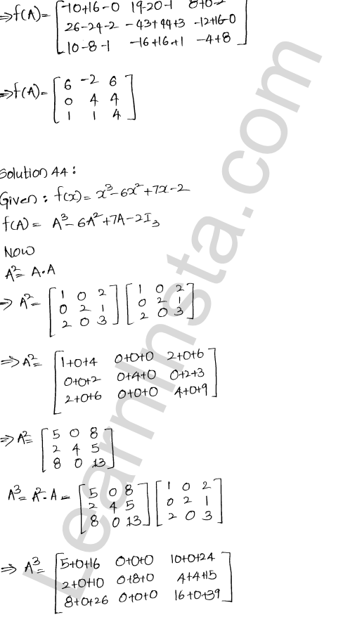 RD Sharma Class 12 Maths Solutions Chapter 5 Algebra of Matrices Ex 5.3 45