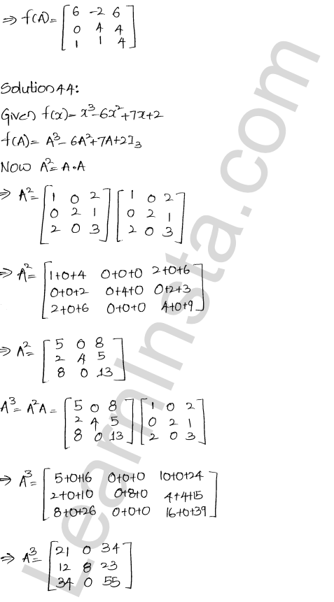 RD Sharma Class 12 Maths Solutions Chapter 5 Algebra of Matrices Ex 5.3 46