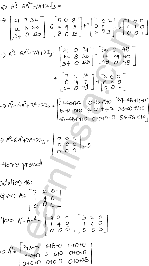 RD Sharma Class 12 Maths Solutions Chapter 5 Algebra of Matrices Ex 5.3 47