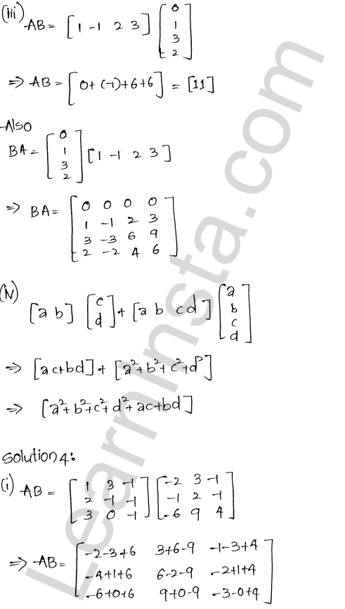 RD Sharma Class 12 Solutions Chapter 5 Algebra of Matrices Ex 5.3 5