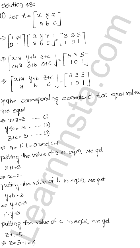 Chapter 5 Algebra of Matrices RD Sharma Class 12 Maths Solutions Ex 5.3 50