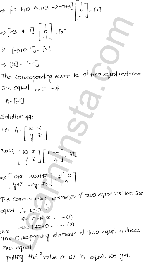 Chapter 5 Algebra of Matrices RD Sharma Class 12 Maths Solutions Ex 5.3 53