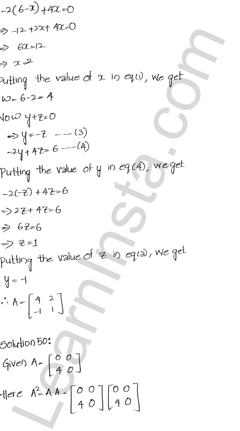 Chapter 5 Algebra of Matrices RD Sharma Class 12 Maths Solutions Ex 5.3 54