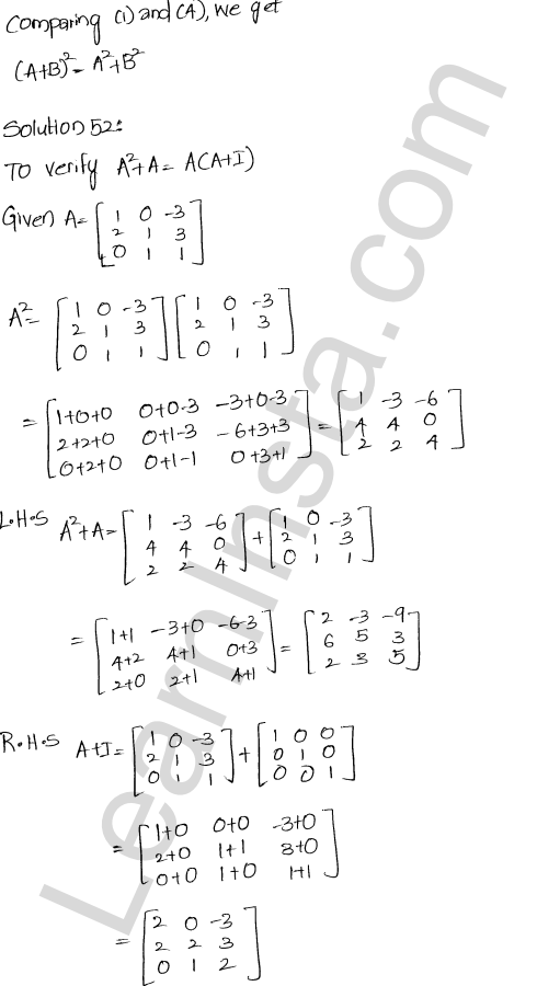 Chapter 5 Algebra of Matrices RD Sharma Class 12 Maths Solutions Ex 5.3 57