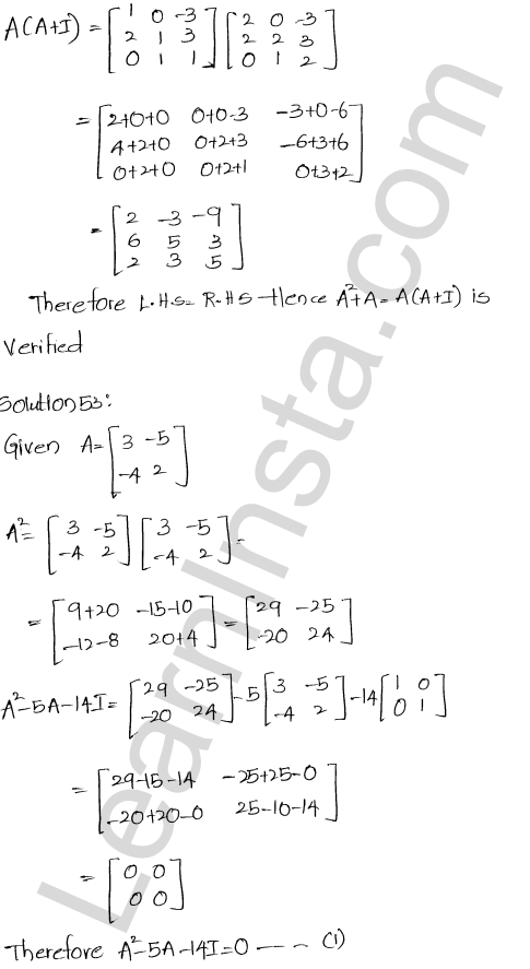 Chapter 5 Algebra of Matrices RD Sharma Class 12 Maths Solutions Ex 5.3 58