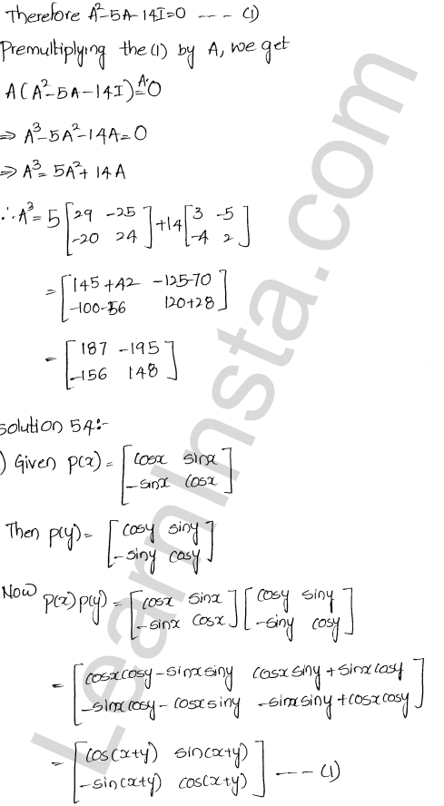 Chapter 5 Algebra of Matrices RD Sharma Class 12 Maths Solutions Ex 5.3 59