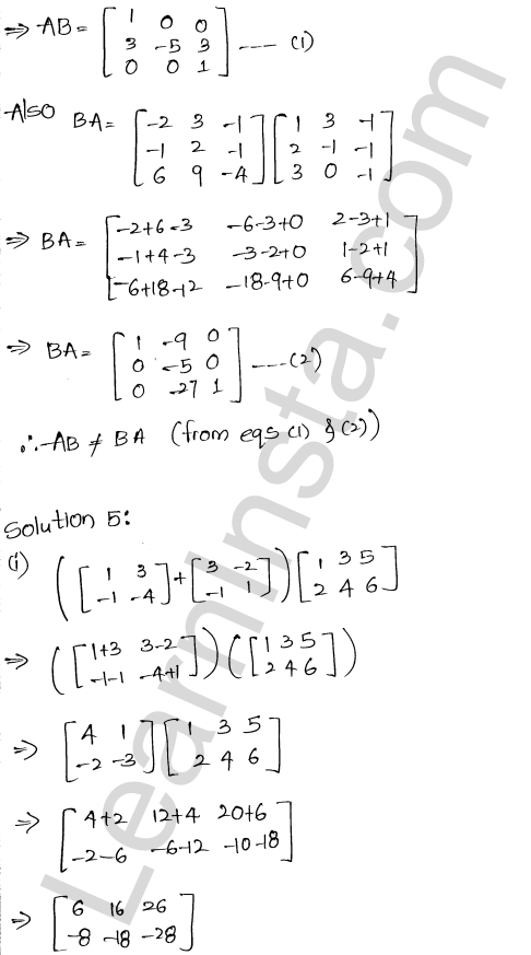 RD Sharma Class 12 Solutions Chapter 5 Algebra of Matrices Ex 5.3 6