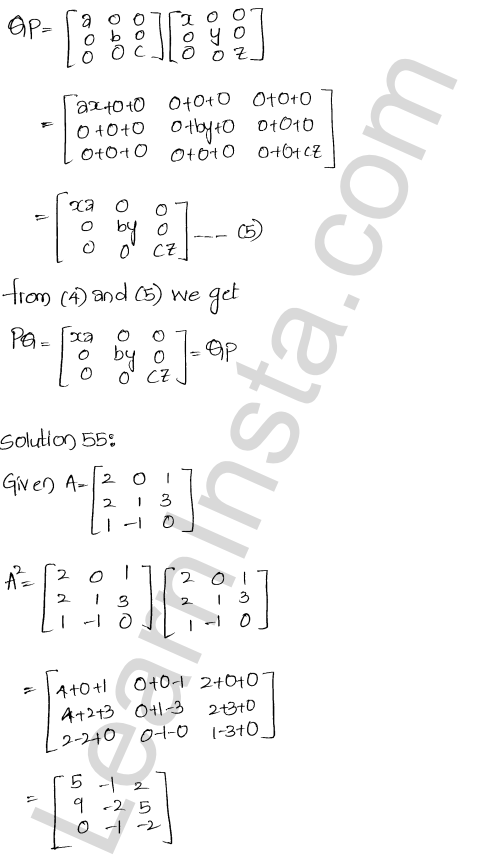 Chapter 5 Algebra of Matrices RD Sharma Class 12 Maths Solutions Ex 5.3 61