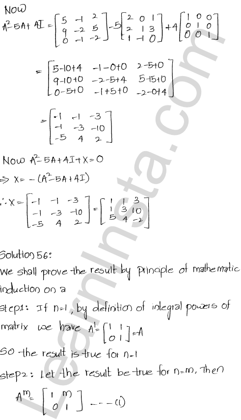 Chapter 5 Algebra of Matrices RD Sharma Class 12 Maths Solutions Ex 5.3 62