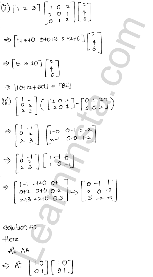 RD Sharma Class 12 Solutions Chapter 5 Algebra of Matrices Ex 5.3 7