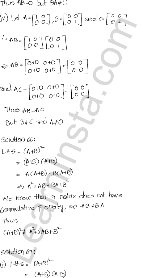 RD Sharma Class 12 Solutions Chapter 5 Algebra of Matrices Ex 5.3 75