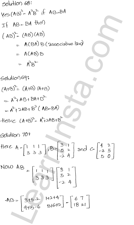 RD Sharma Class 12 Solutions Chapter 5 Algebra of Matrices Ex 5.3 77