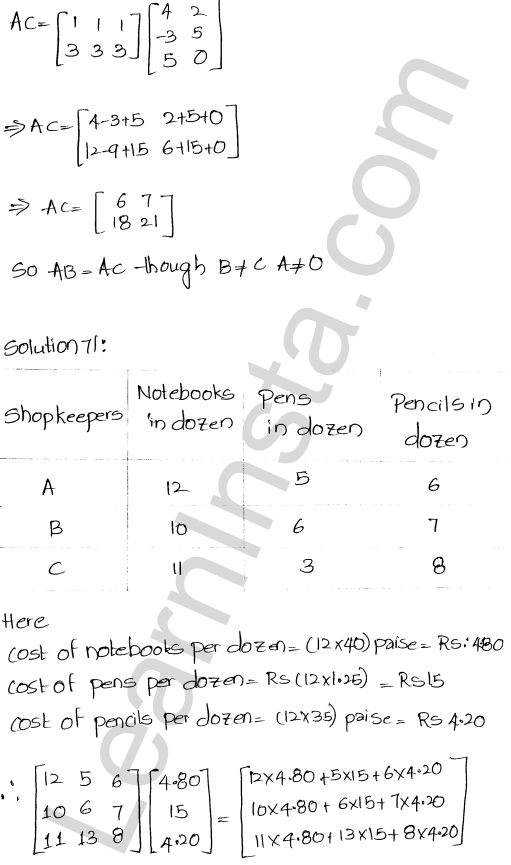 RD Sharma Class 12 Solutions Chapter 5 Algebra of Matrices Ex 5.3 78