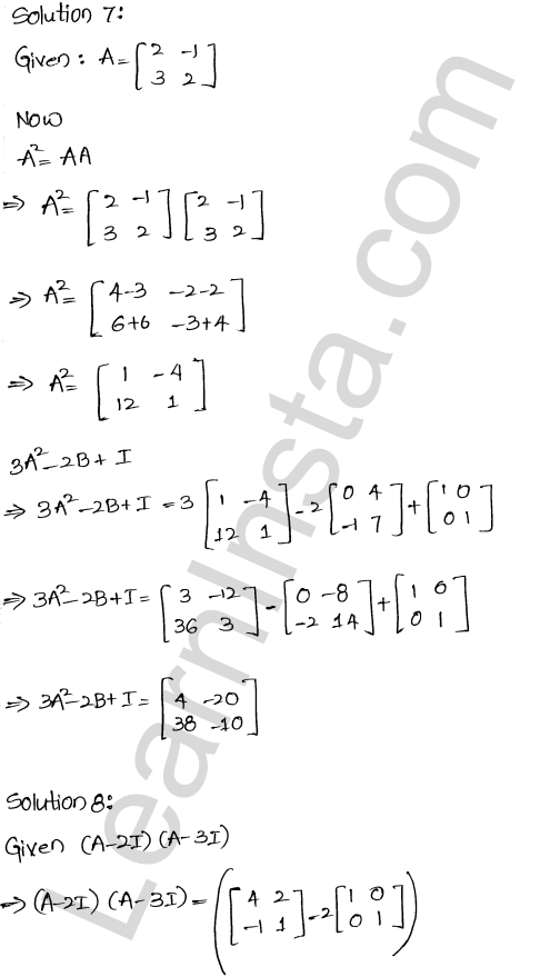 RD Sharma Class 12 Solutions Chapter 5 Algebra of Matrices Ex 5.3 9