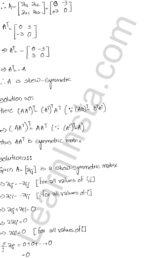 RD Sharma Class 12 Solutions Algebra of Matrices Chapter 5 Ex 5.5 10