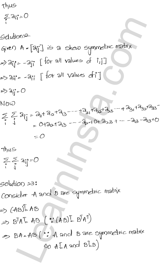 RD Sharma Solutions Class 12 Algebra of Matrices Chapter 5 Ex 5.5 11