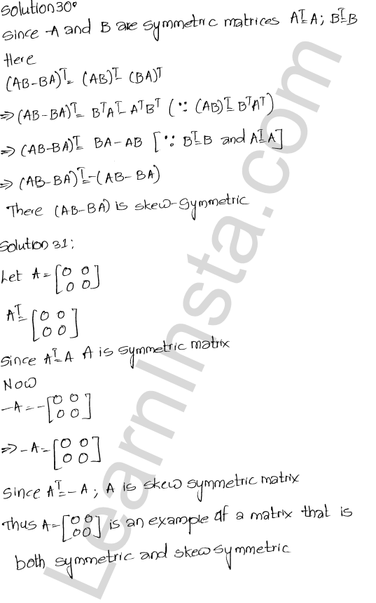 RD Sharma Solutions Class 12 Algebra of Matrices Chapter 5 Ex 5.5 14