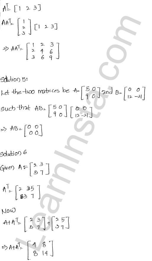 RD Sharma Class 12 Solutions Chapter 5 Algebra of Matrices Ex 5.5 2