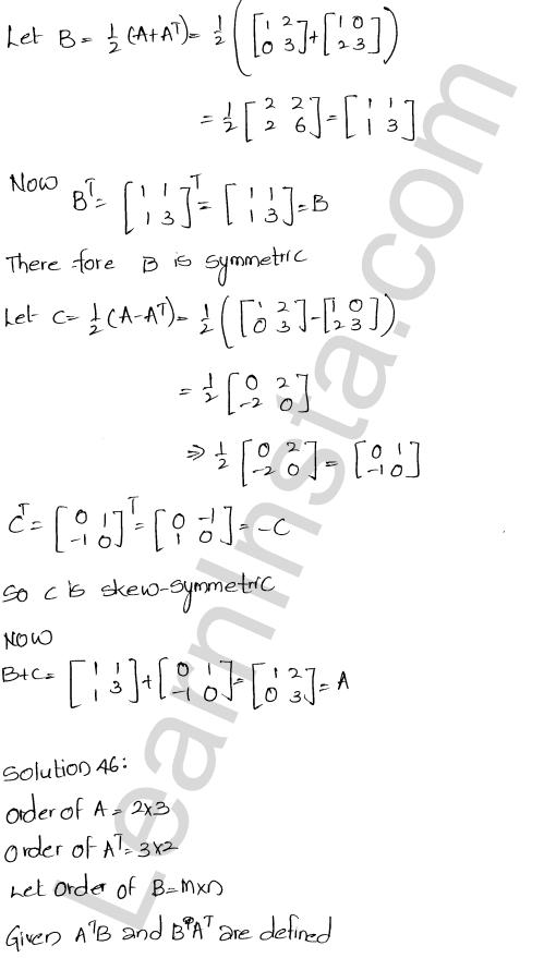RD Sharma Class 12 Solutions Chapter 5 Algebra of Matrices Ex 5.5 21