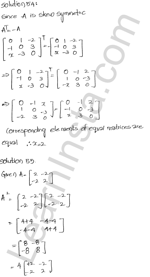 RD Sharma Class 12 Solutions Chapter 5 Algebra of Matrices Ex 5.5 25