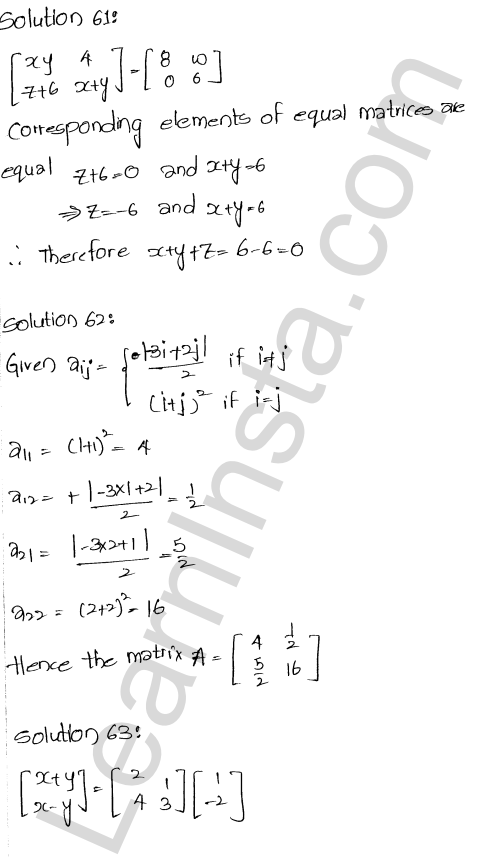 RD Sharma Class 12 Solutions  Algebra of Matrices Chapter 5 Ex 5.5 28