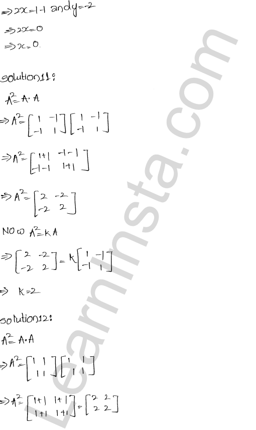 RD Sharma Class 12 Solutions Chapter 5 Algebra of Matrices Ex 5.5 5