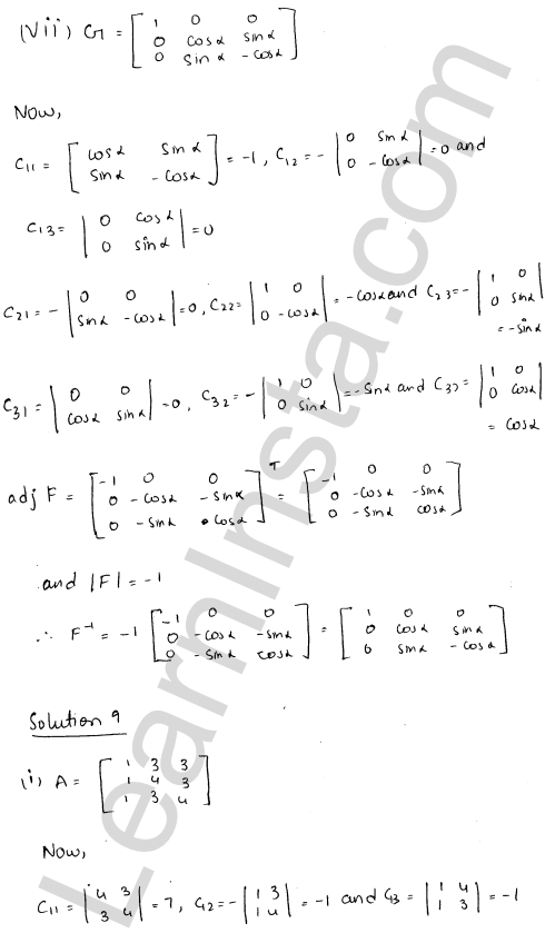 RD Sharma Solutions Class 12 Adjoint and Inverse of a Matrix 7 Ex 7.1 15