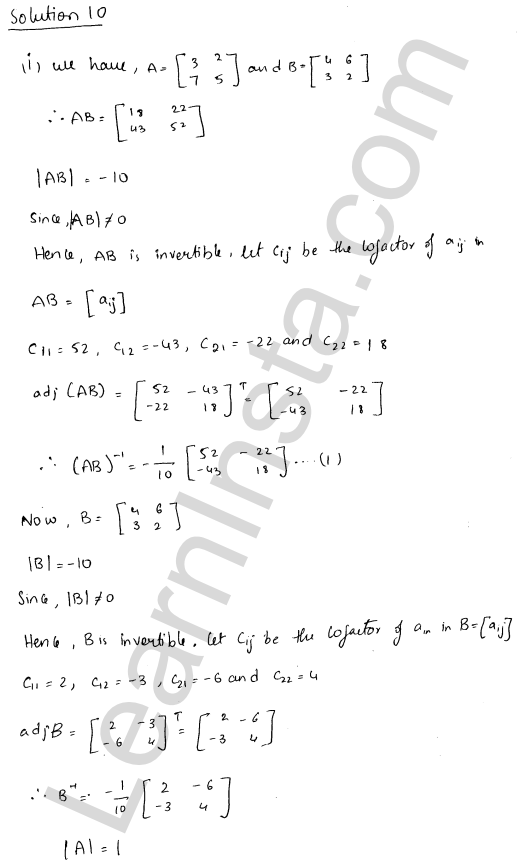 RD Sharma Class 12 Maths Solutions Chapter 7 Adjoint and Inverse of a Matrix Ex 7.1 17