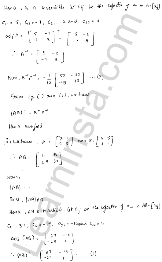 RD Sharma Class 12 Maths Solutions Chapter 7 Adjoint and Inverse of a Matrix Ex 7.1 18