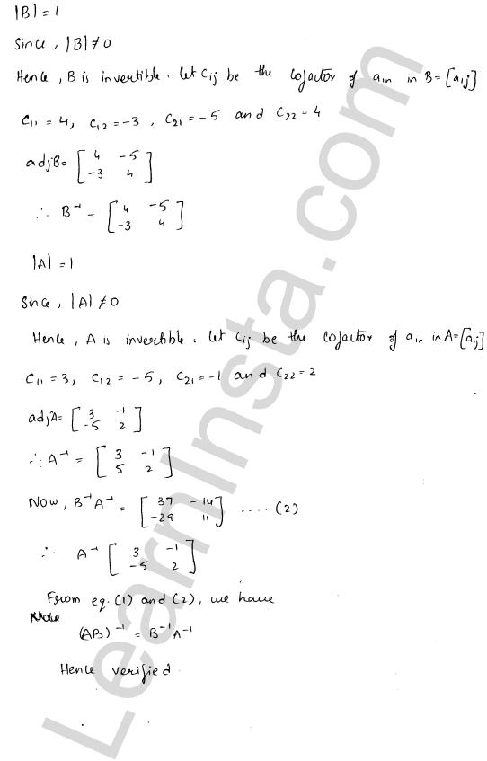 RD Sharma Class 12 Maths Solutions Chapter 7 Adjoint and Inverse of a Matrix Ex 7.1 19