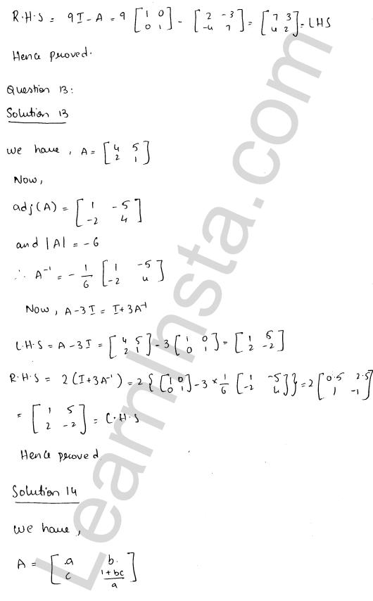RD Sharma Class 12 Maths Solutions Chapter 7 Adjoint and Inverse of a Matrix Ex 7.1 21
