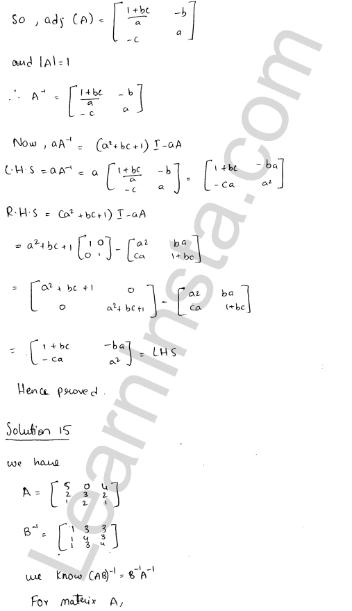 RD Sharma Class 12 Solutions Chapter 7 Adjoint and Inverse of a Matrix Ex 7.1 22