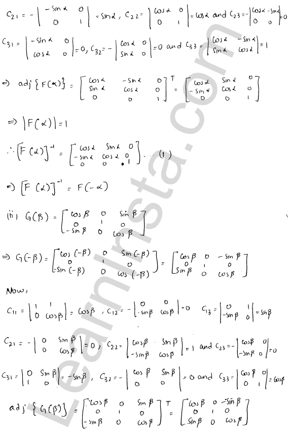 RD Sharma Class 12 Solutions Chapter 7 Adjoint and Inverse of a Matrix Ex 7.1 24