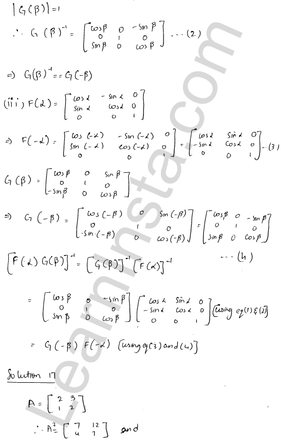 RD Sharma Class 12 Solutions Chapter 7 Adjoint and Inverse of a Matrix Ex 7.1 25