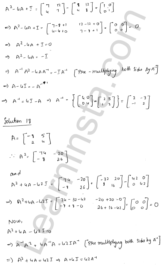 RD Sharma Class 12 Solutions Chapter 7 Adjoint and Inverse of a Matrix Ex 7.1 26