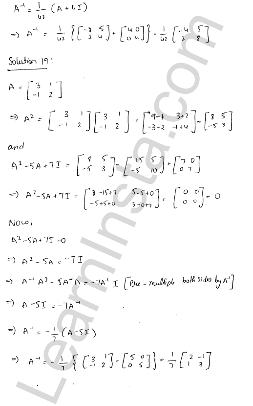 RD Sharma Class 12 Solutions Adjoint and Inverse of a Matrix Chapter 7 Ex 7.1 27