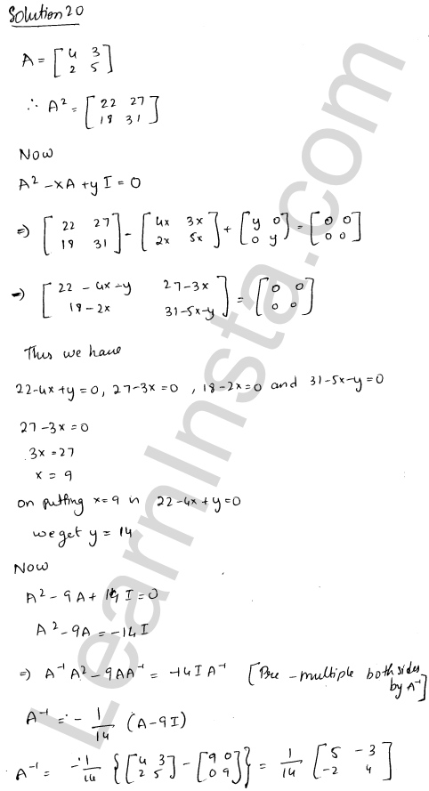 RD Sharma Class 12 Solutions Adjoint and Inverse of a Matrix Chapter 7 Ex 7.1 28