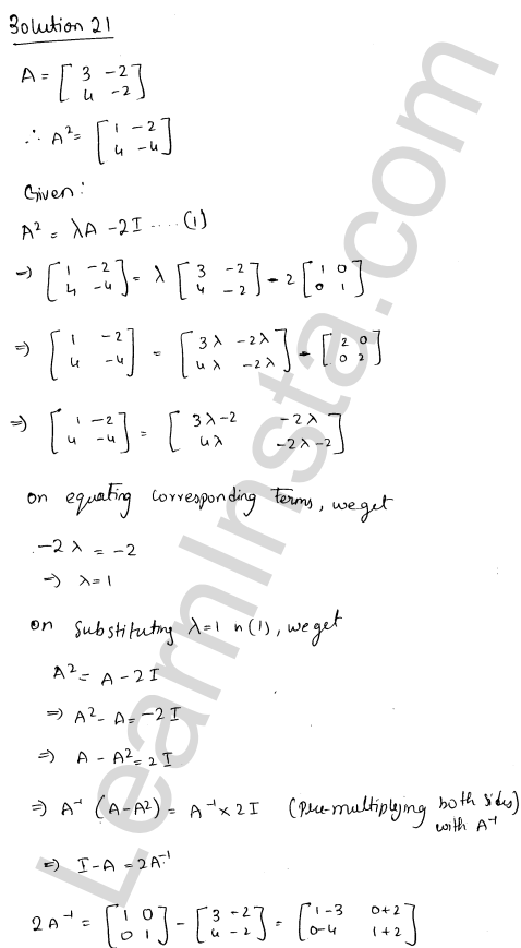 RD Sharma Class 12 Solutions Adjoint and Inverse of a Matrix Chapter 7 Ex 7.1 29