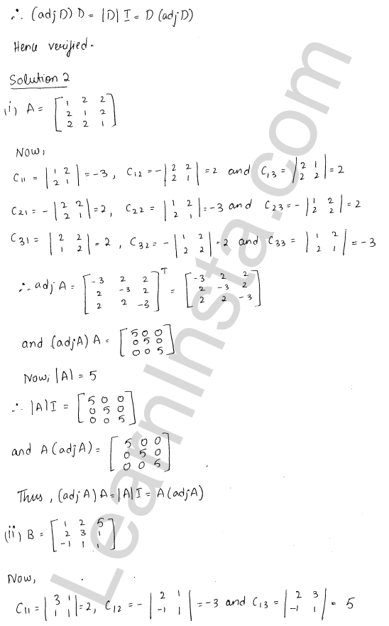 RD Sharma Class 12 Solutions Chapter 7 Adjoint and Inverse of a Matrix Ex 7.1 3