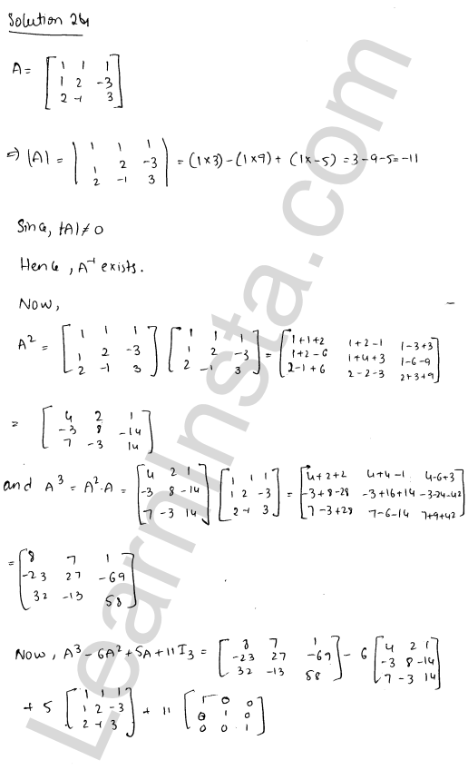 RD Sharma Solutions Class 12 Adjoint and Inverse of a Matrix Chapter 7 Ex 7.1 32